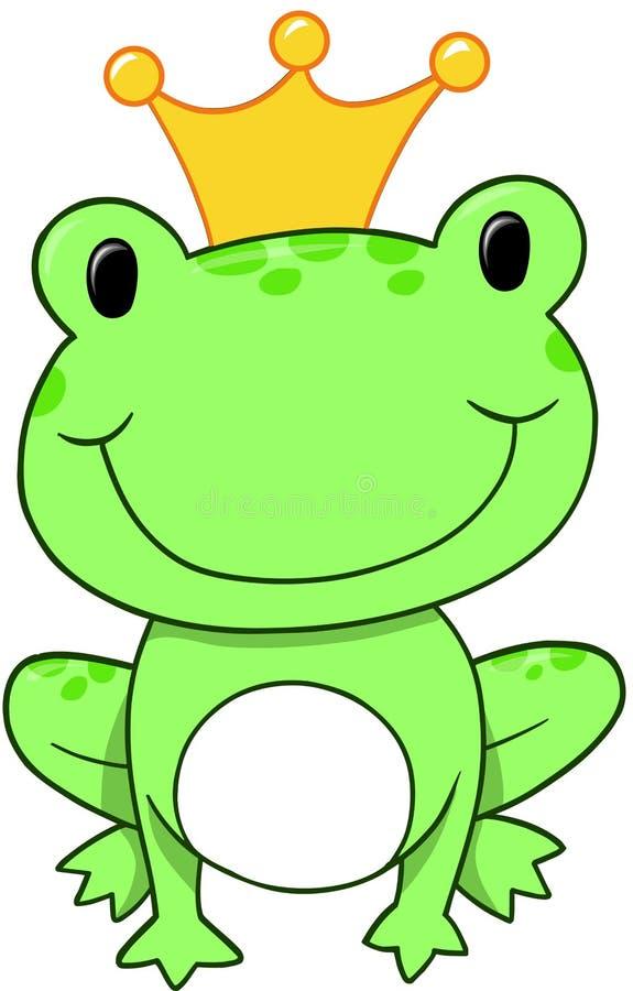 Frog Prince Vector royalty free illustration