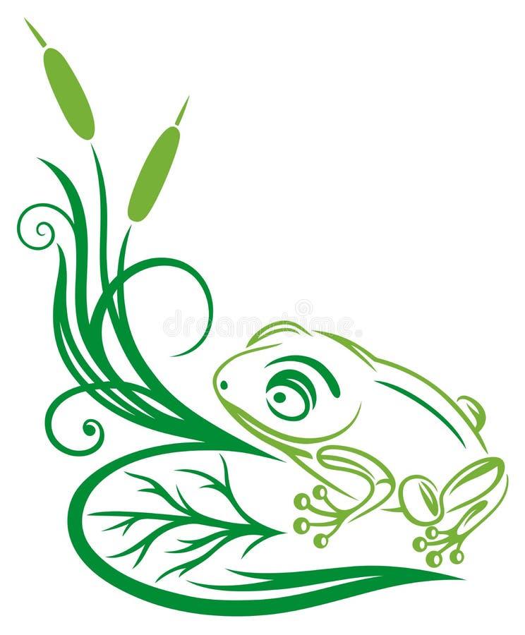 Free Frog, Reed, Illustration Royalty Free Stock Image - 33577026