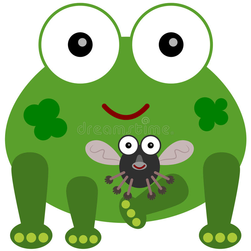 Frog S Fly Friend Stock Image