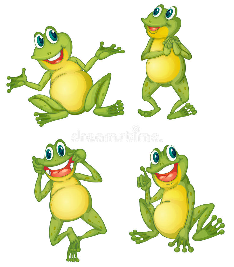 Download Frog series stock vector. Image of eyes, goggle, pointing - 24653406