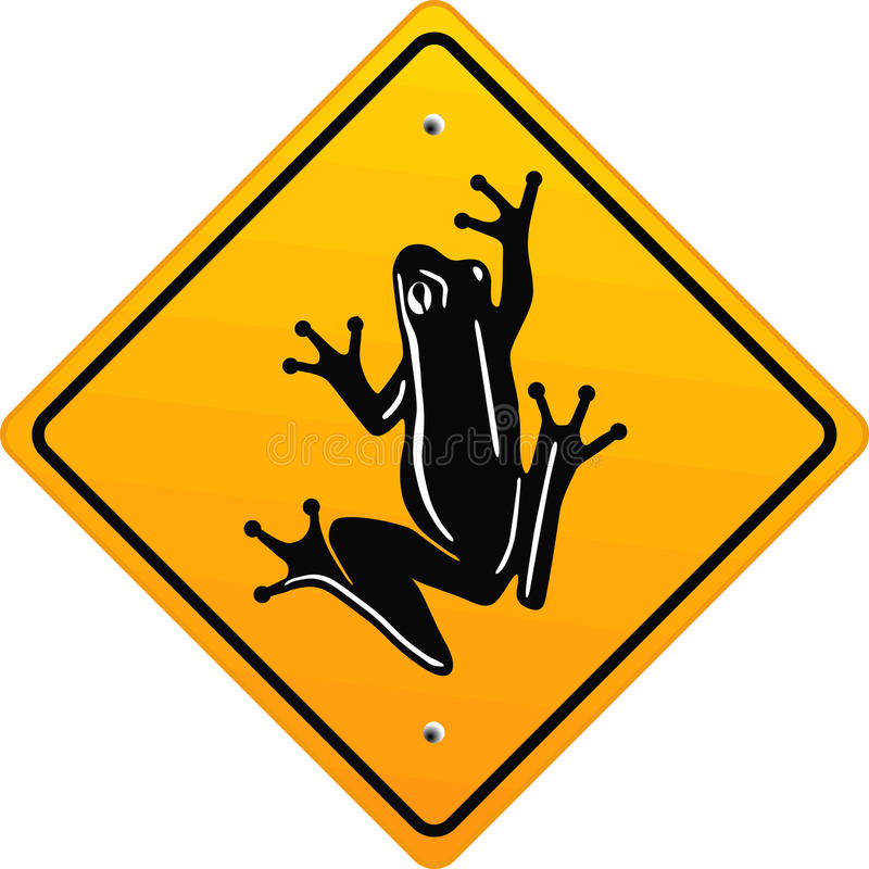 Download Frog sign stock vector. Image of leisurely, animals, creeping - 11052039