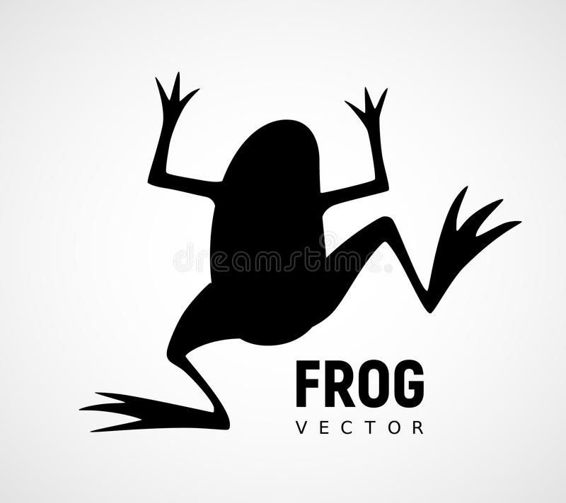 Frog silhouette. Black and white vector icon. Eps8. RGB. Global color royalty free illustration