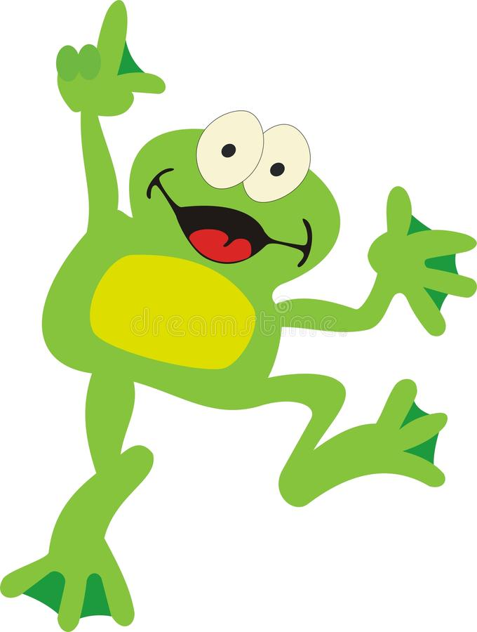 Frog - smile stock image