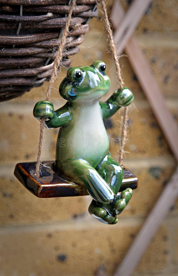 Download Frog On A Swing Stock Image. Image Of Toads, Pottery   69103609