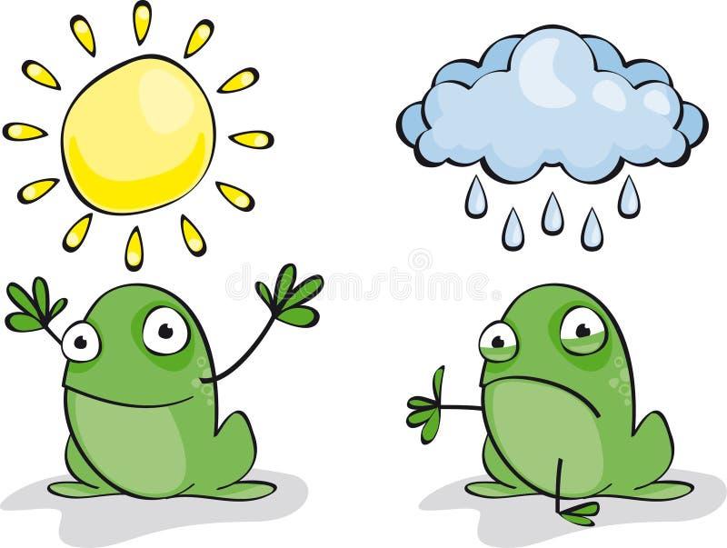 Download Frog Weather stock vector. Image of humor, cartoon, white - 15877730