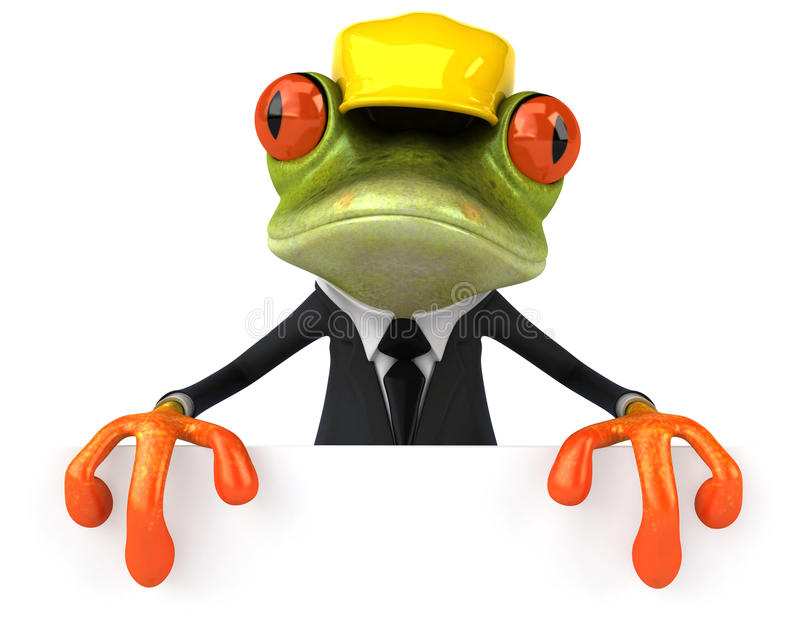 Frog Worker Royalty Free Stock Image