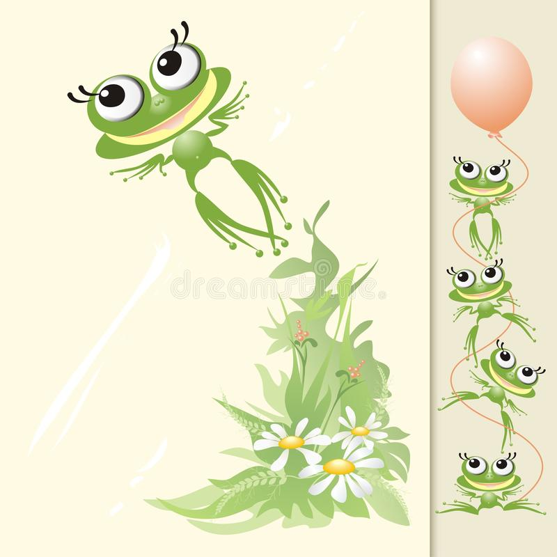 Download Froggy flight stock vector. Illustration of creative - 10170450