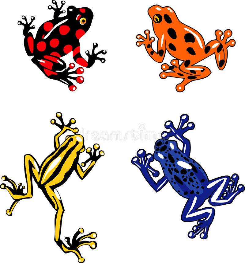 Download Frogs stock vector. Illustration of painting, frog, silhouette - 26502320
