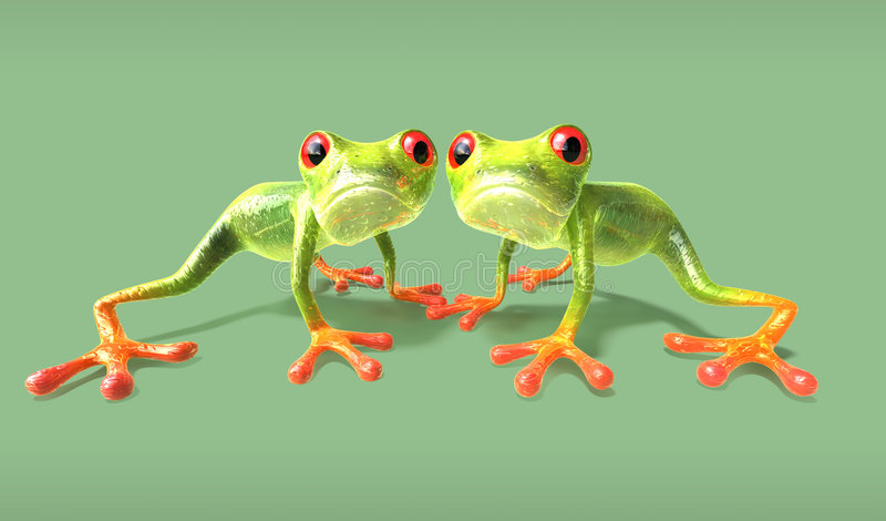 Frogs stock illustration