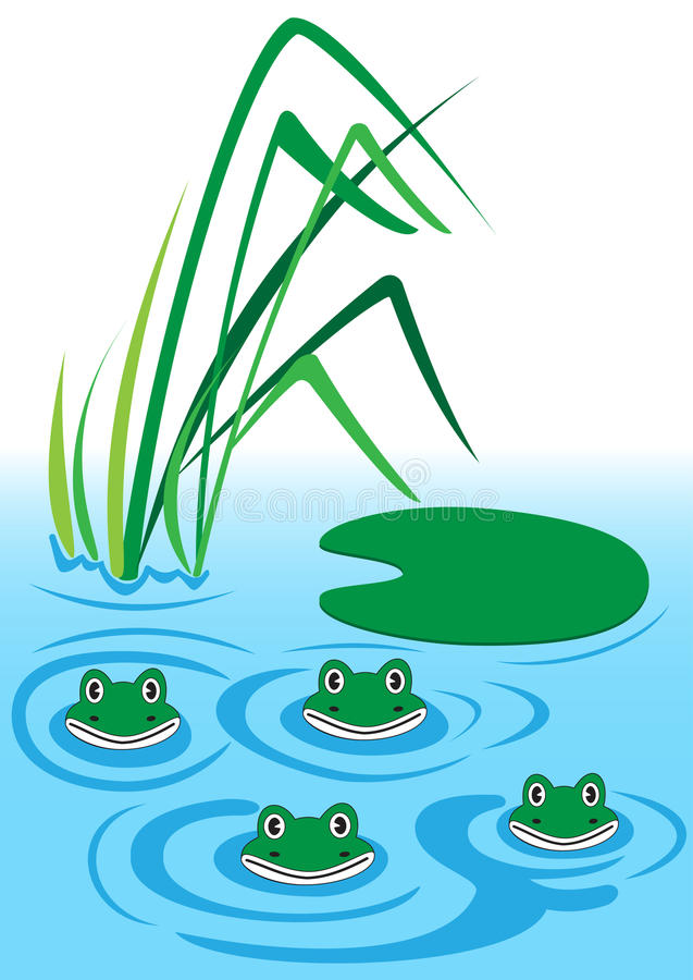 Frogs royalty free illustration