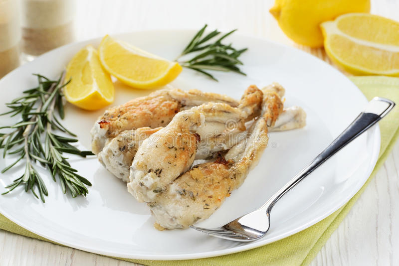 Frogs Legs Fried stock image