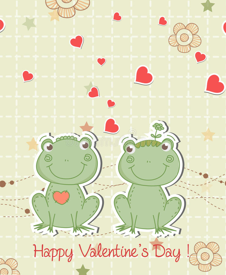Download Frogs in love stock vector. Illustration of flower, frog - 23257789