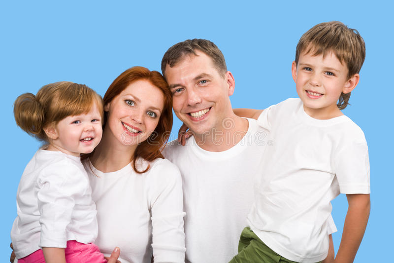 Frohe Familie lizenzfreies stockbild