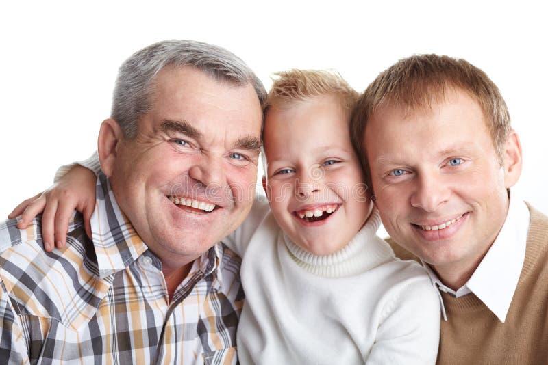 Frohe Familie Stockfotos