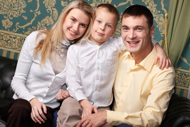 Frohe Familie stockbilder