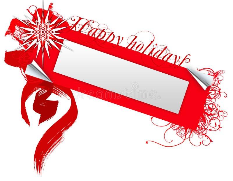 Frohe Feiertage Abzeichen stock abbildung