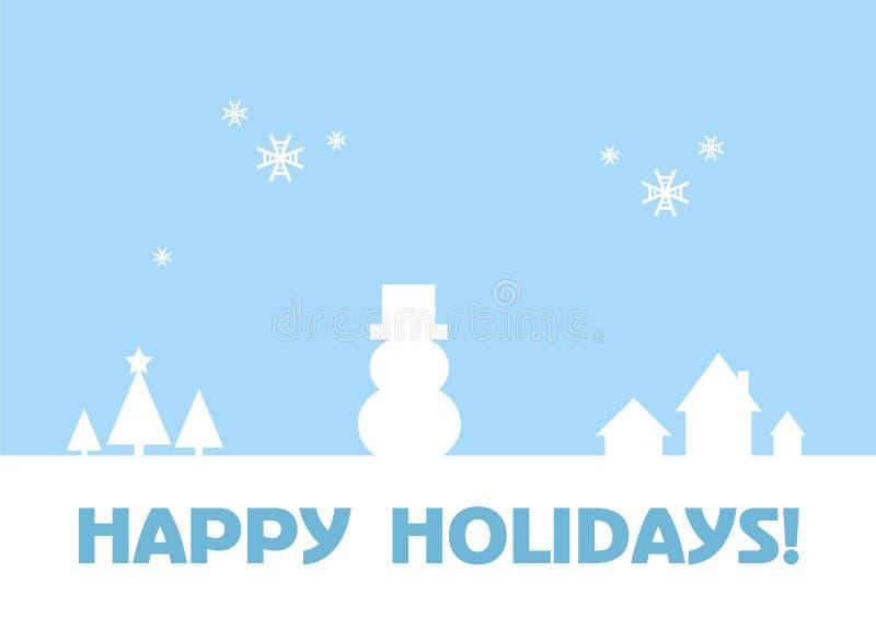 Frohe Feiertage - Gruß-Karte/Winter-Hintergrund stock abbildung