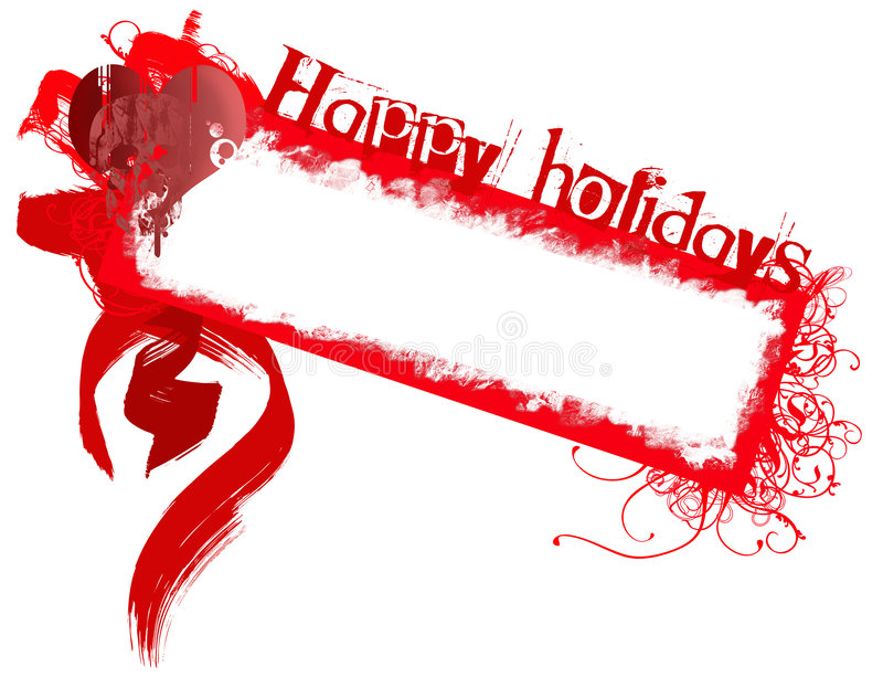 Frohe Feiertage grunge Abzeichen vektor abbildung