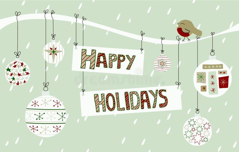 Frohe Feiertage Hintergrund lizenzfreie stockbilder