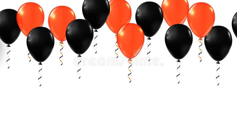 Frohe Halloween-Ballons Ballonset vektor abbildung