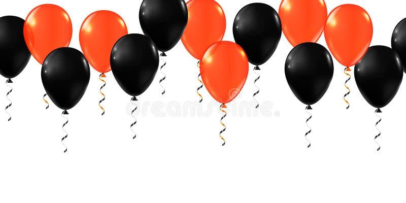 Frohe Halloween-Ballons Ballonset lizenzfreie abbildung