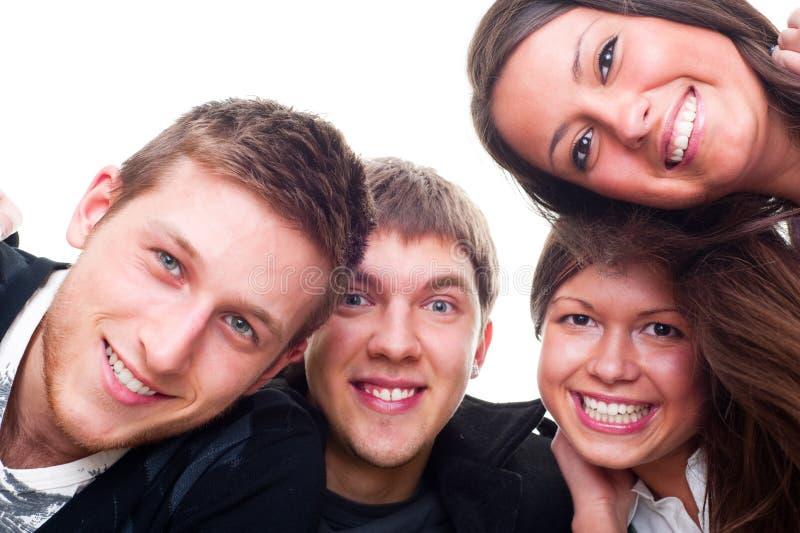 Frohe junge Leute lizenzfreies stockbild