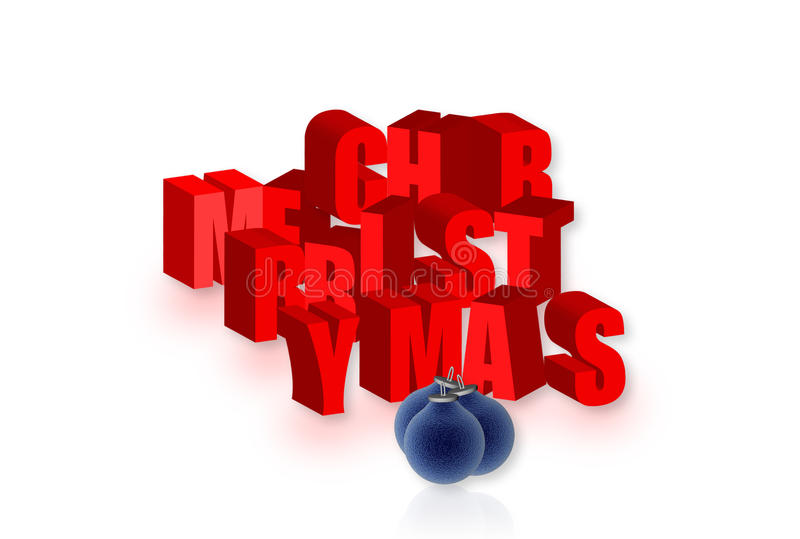 Frohe Typo-Weihnachten stock abbildung