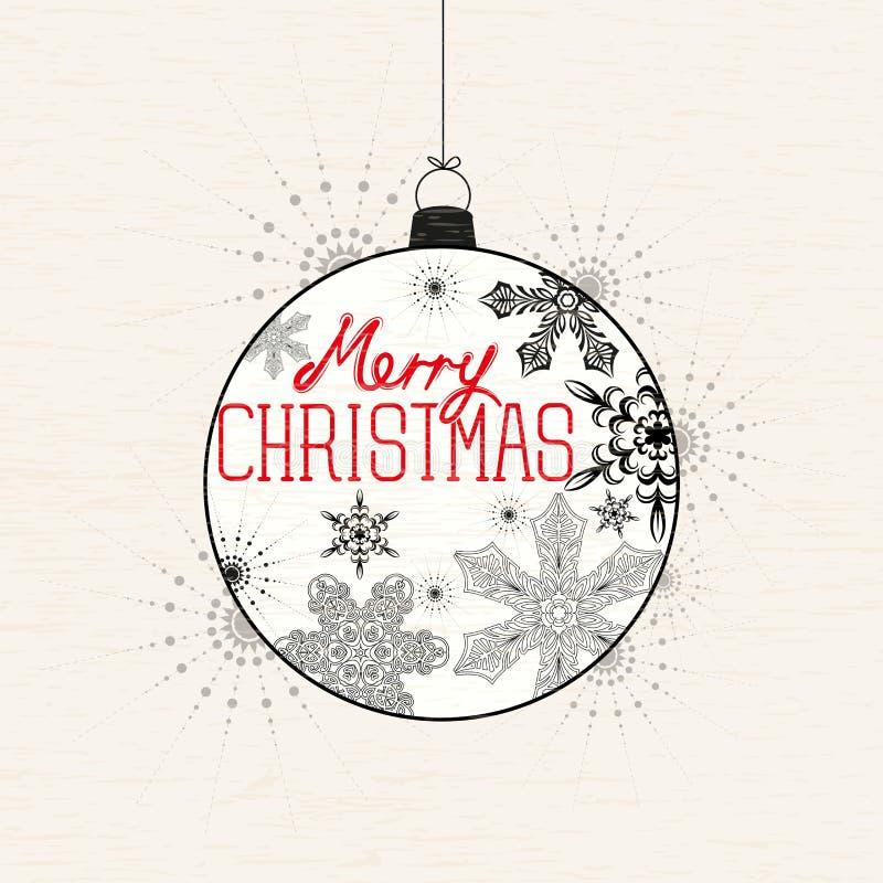 Frohe Weihnacht-Flitter stock abbildung