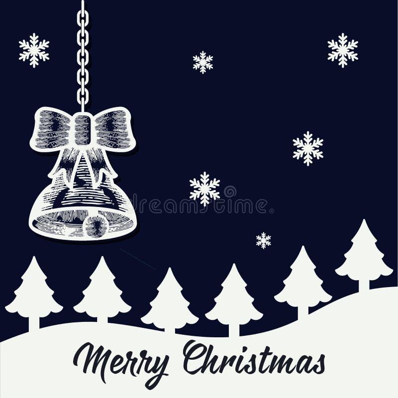 Frohe Weihnacht-Hintergrund lizenzfreie abbildung