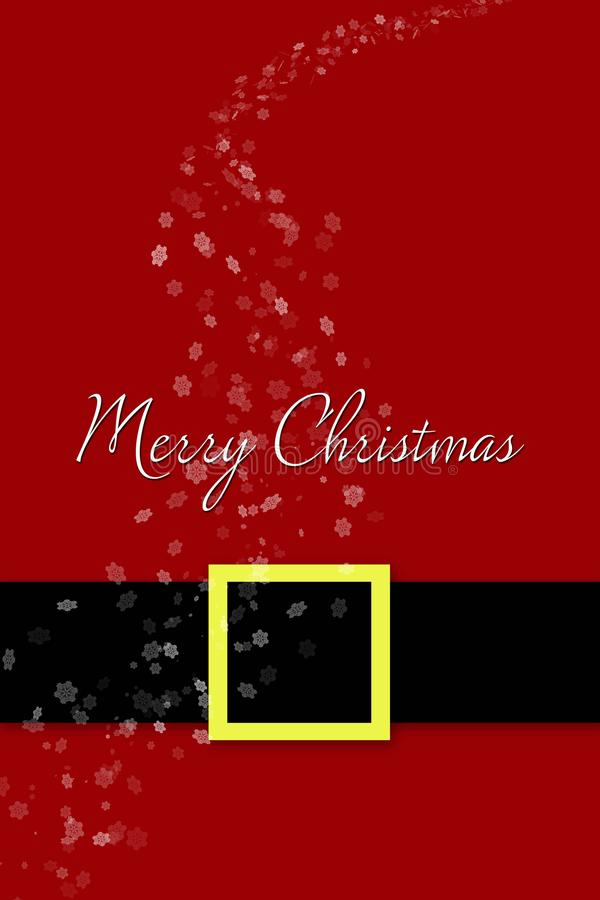 Frohe Weihnacht-Karte Santa Claus-Kostümhintergrund vektor abbildung
