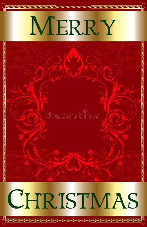 Frohe Weihnacht-rotes Leerzeichen lizenzfreie abbildung