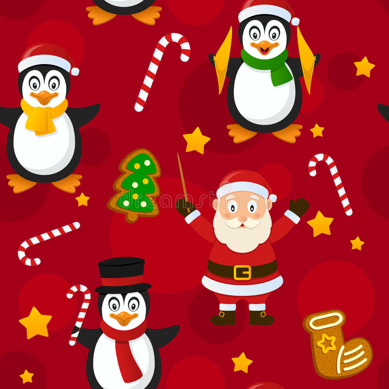 Frohe Weihnacht-rotes nahtloses Muster vektor abbildung