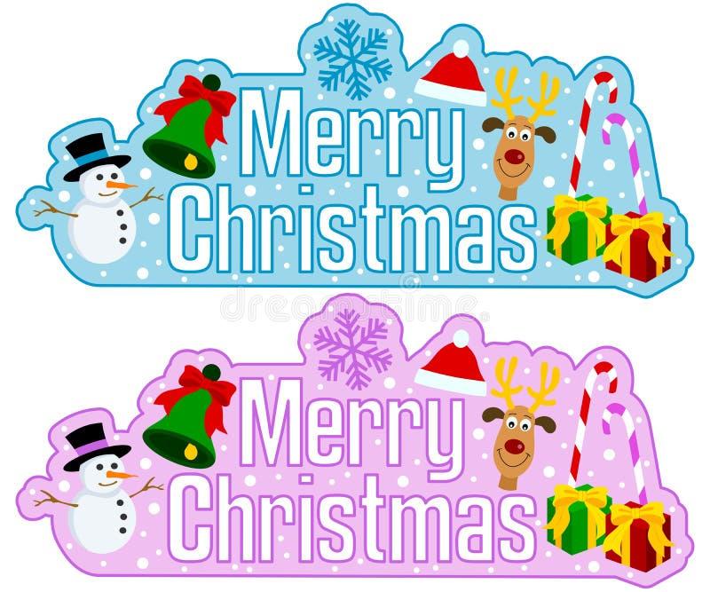 Frohe Weihnacht-Schlagzeile vektor abbildung