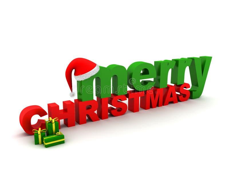 Frohe Weihnacht-Text vektor abbildung