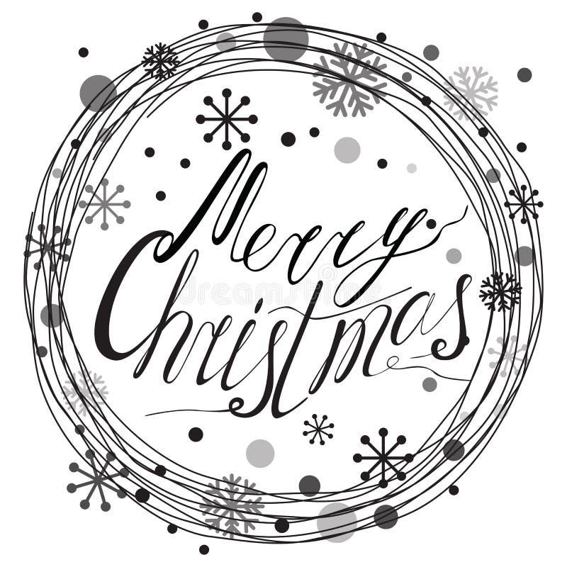 Frohe Weihnacht-Typografie-Fahnen-Design stock abbildung