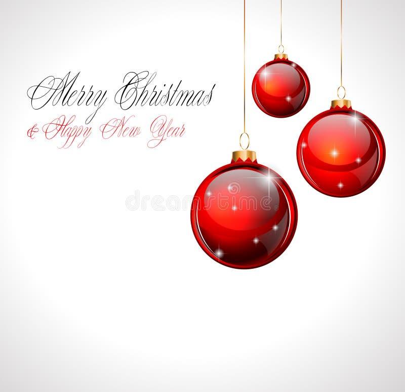 Frohe Weihnacht-und glückliches neues Jahr-Hintergrund vektor abbildung
