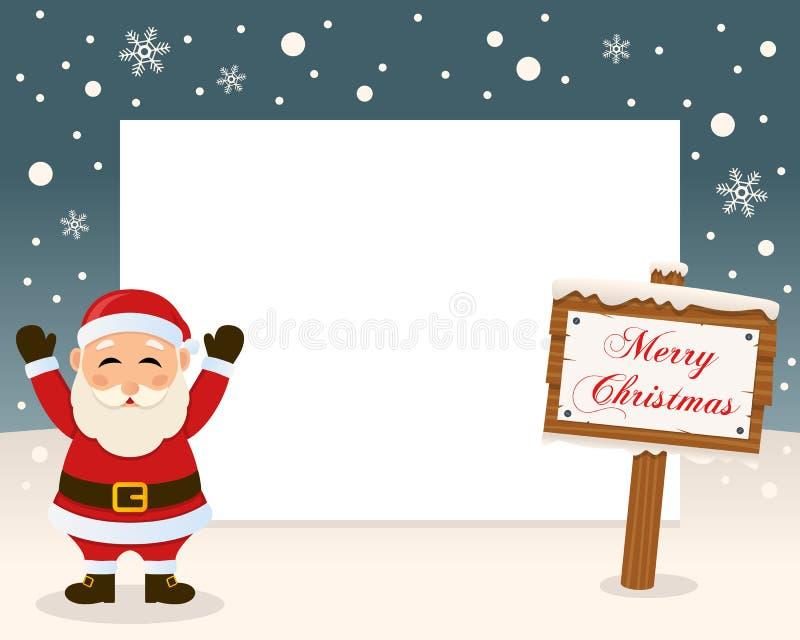 frohe weihnacht zeichen rahmen santa claus vektor. Black Bedroom Furniture Sets. Home Design Ideas