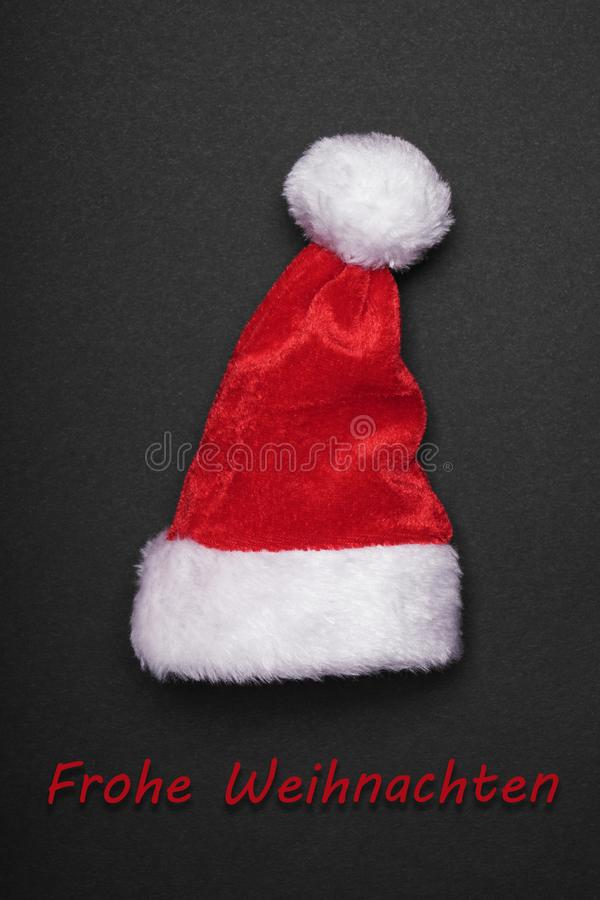 Frohe Weihnachten意味圣诞快乐用德语 免版税库存图片