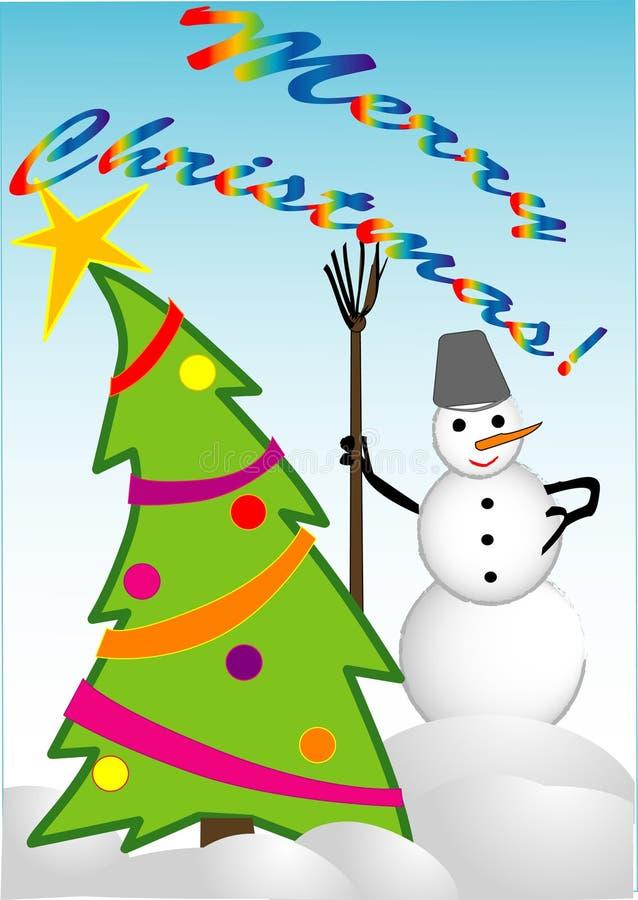 Frohe Weihnachten! lizenzfreie abbildung