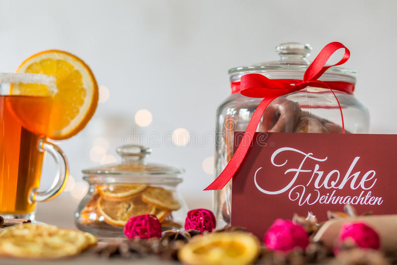 Frohe Weihnachten card stock photos