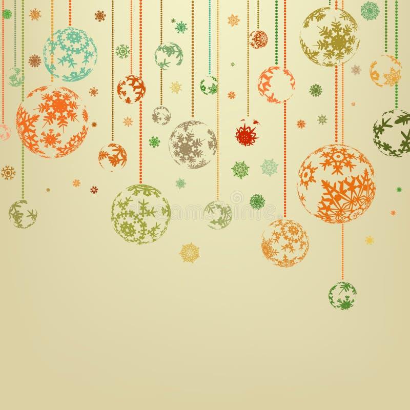 Frohe Weihnachten der Weinlese und glückliches neues Jahr. ENV 8 lizenzfreie abbildung