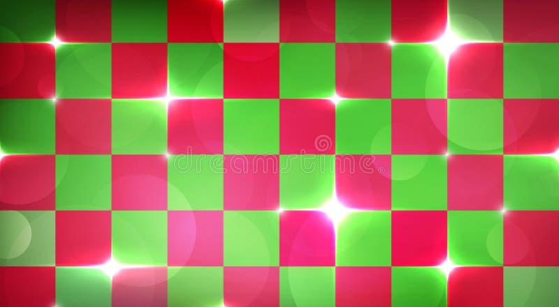 Frohe Weihnachten, die Hintergrund mit roter und grüner Blitzexplosion einwickeln stock abbildung