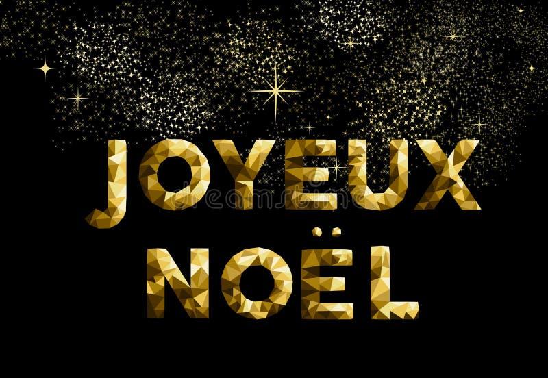 Frohe Weihnachten französisches joyeux noel Frankreich-Land lizenzfreie abbildung