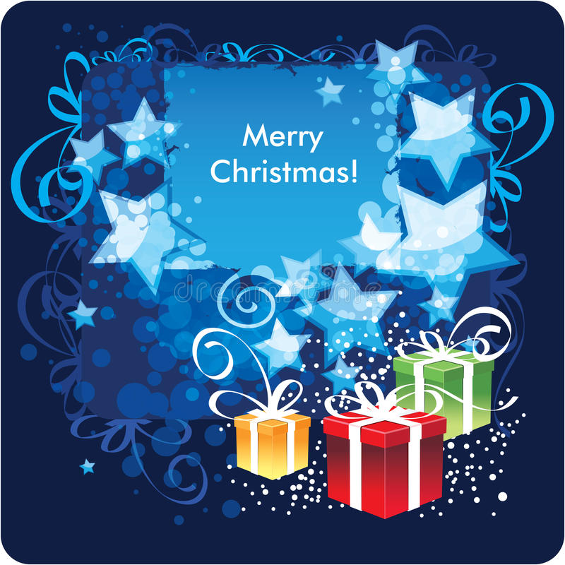 Frohe Weihnachten, Grußkarte lizenzfreie abbildung