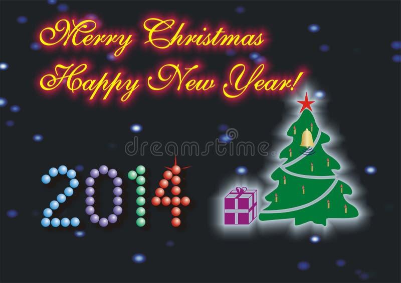 Frohe Weihnachten u. guten Rutsch ins Neue Jahr lizenzfreies stockbild