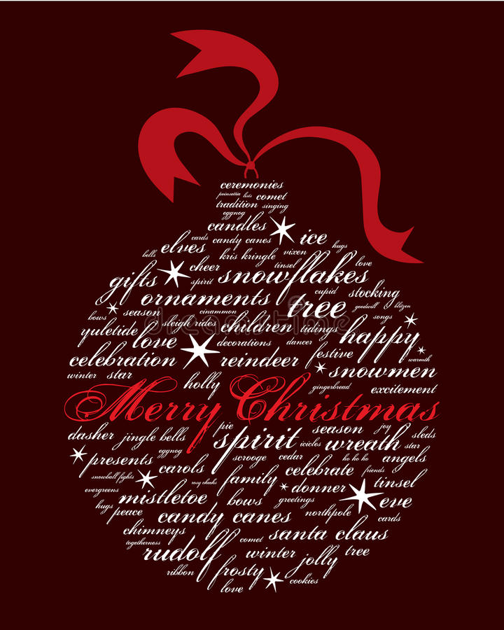 Frohe Weihnachten und andere Feiertagswörter