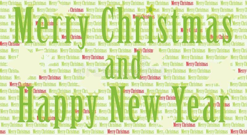 Frohe Weihnachten und glückliches neues Jahr stock abbildung