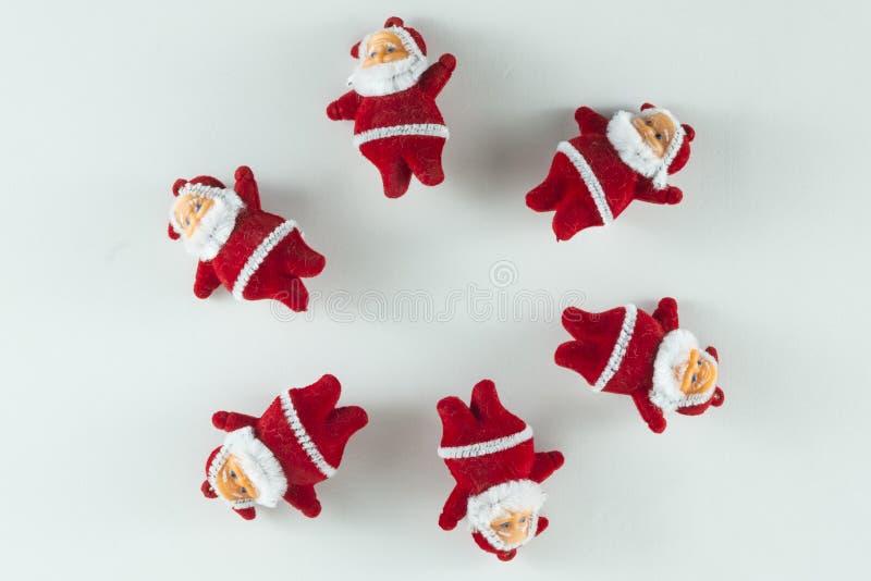 Frohe Weihnachten und guten Rutsch ins Neue Jahr, Santa Claus-Kreise stockfoto