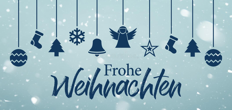 Frohe Weihnachten - Wesoło boże narodzenia w niemiec ilustracja wektor