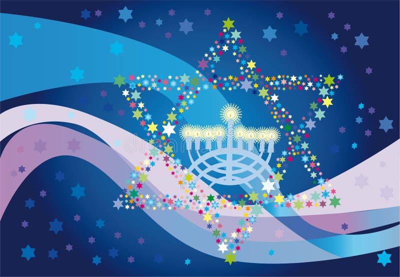 Froher Hintergrund zum jüdischen Feiertag lizenzfreie abbildung